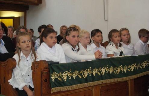 A Talentum Iskola diákjai az istentiszteleten
