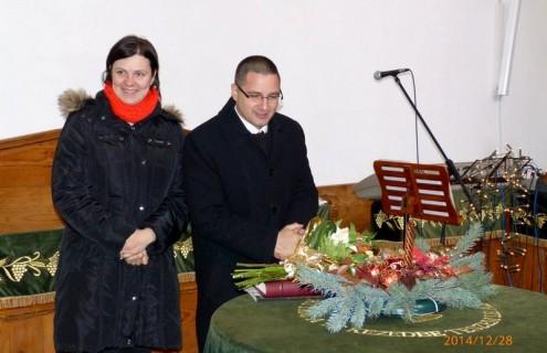 A lelkészházaspár 10 éve a Református Gyülekezet szolgálatában